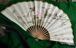 éventail bois laqué  bambou  Japon  oise...