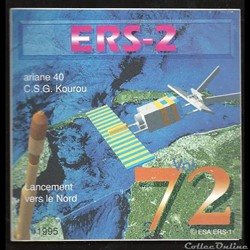 ARIANE40    KOUROU 1995  VOL N°72  satel...