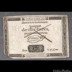 assignat  de 10 livres   24 octobre 1792     faux