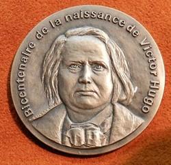 médaille VICTOR HUGO Besançon bicentenai...