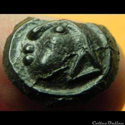 monnaie antique av jc ap gauloise serie 956 dt 3256 potin au triangle q doci degenere