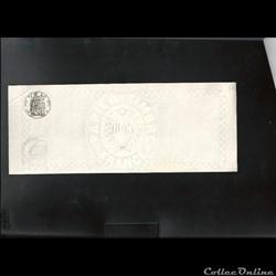 papier timbre  France 1895  lettre  de c...