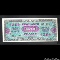 billet de 50  francs    US