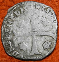 Henri III    1576 douzain aux deux H