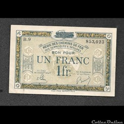 1 franc régie des chemins de fer