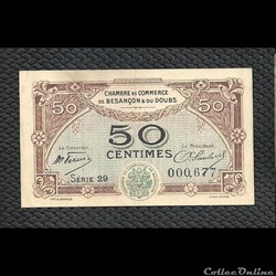 50 centimes Besançon chambre de commerce