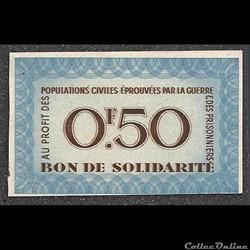 bon de solidarité 0.50 francs