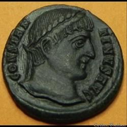 Constantin I PROVIDENTIAE AVGG  (porte  de camp)  Constantinus