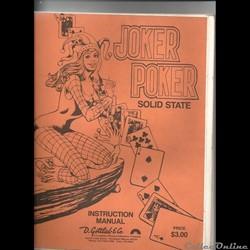 MANUEL FLIPPER PINBALL GOTTLIEB JOCKER P...