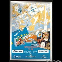ARIANE  KOUROU  VOL N°99 satellites  EUT...