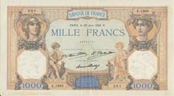 1 000 FRANCS 30 JUIN 1932