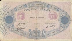 500 FRANCS 24 JUILLET 1929