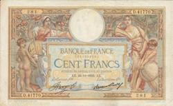 100 FRANCS 16 NOVEMBRE 1933