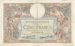 100 FRANCS 24 MARS 1932