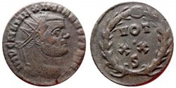 MAXIMIANUS AE Post Reform Radiate RIC 36...