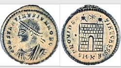 CONSTANTINE II AE3 Follis RIC VII 52, Ca...