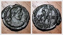 VALENS  AE3 RIC 5b.vii, Gloria Romanorvm