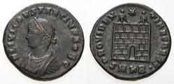 CONSTANTIUS II AE3 RIC VII 38,B, Campgat...