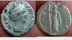 FAUSTINA I Denarius RIC 362, Ceres