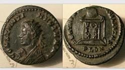 CONSTANTINE II AE3 RIC VII 284, BEATA TR...