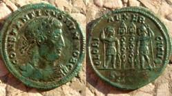CONSTANTINE II AE3 RIC VII 184, GLORIA E...