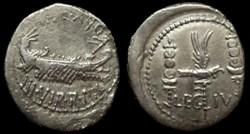 MARCUS ANTONIUS AR Denarius  LEG IV