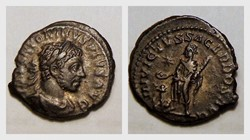 ELAGABALUS Denarius RIC 88, Sacrificing ...