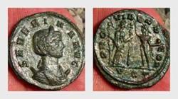 SEVERINA Antoninianus RIC 9, Fides