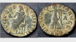 MAXIMINUS II DAIA Quarter Nummis, Vagi 2...