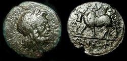 TRALLES, LYDIA CITY COINAGE AE14