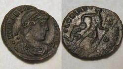 VALENTINIAN I AE3, RIC 14a, Gloria Roman...