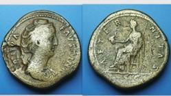 FAUSTINA I Sestertius RIC 1103A, Aeterni...