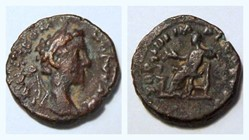 COMMODUS Denarius RIC 649, Salus