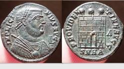 LICINIUS I AE Follis RIC VII 48, Campgat...