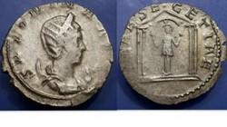 Salonina AR Antoninianus RIC 5, Temple