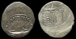 MARCUS ANTONIUS AR Denarius   LEG II