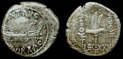 MARCUS ANTONIUS AR Denarius  LEG XXII