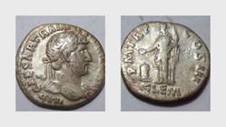 HADRIAN Denarius, RIC 117, Clementia