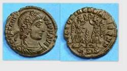 CONSTANTIUS II AE4 RIC VIII 194, Two Vic...