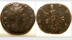 FAUSTINA I AE As, RIC 1171, Ceres