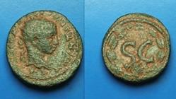 ELAGABALUS AE 21, BMC 426, Wreath
