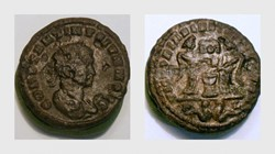 CONSTANTINE II AE3 RIC VII, LYONS [after...