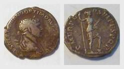 TRAJAN Denarius, RIC 355, Virtus