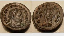 LICINIUS I AE Follis RIC VII 3, Genius