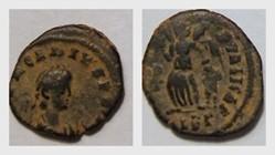 ARCADIUS AE4 RIC IX 20c(1), Victory