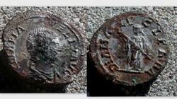 JULIA DOMNA Fouree Denarius RIC 373A [Ca...