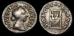 Faustina II AR Denarius RIC 711 (Aureliu...