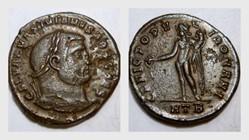 MAXIMINUS II AE Follis RIC VI 26b, Geniu...