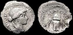 T. CARISIUS ROMAN REPUBLIC AR Denarius