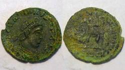 GRATIAN AE3 RIC 14c, Gloria Romanorvm